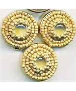 Citrine Beaded Button Covers 6 - $12.05