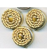 Tiger Eye Beaded Button Covers 7 - $10.00
