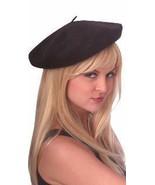 BERET HAT BLACK WOOL - $15.00