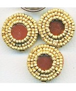 Carnelian Beaded Button Covers 8 - $12.05