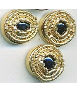 Black Onyx Beaded Button Covers 10 - $12.05