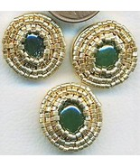 Jade Beaded Button Covers 11 - $10.00
