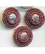 Leopard Skin Jasper Beaded Button Covers 13 - $10.00