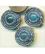 Blue Agate Beaded Button Covers 14 - $12.05