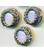 Opal Glass Beaded Button Covers 17 - $12.05