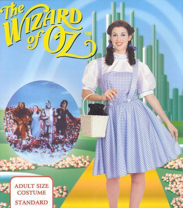 Wizard of Oz DOROTHY COSTUME ADULT SIZE LARGE