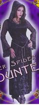 VELVET SILVER SPIDER WEB COUNTESS 2-8 ADULT   - $45.00