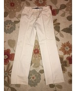 BCBG MAXAZRIA Size 2 Cream Cotton Khaki Pants 2 - $29.99