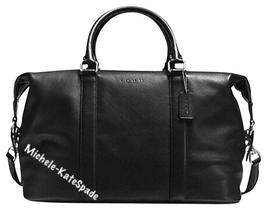 $695 NWT COACH BLACK  Men's Voyager Sport Calf Leather DUFFLE Travel Bag... - $295.00
