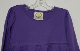 Blanks Boutique Purple Long Sleeve Empire Waist Ruffle Dress Size 18M image 5