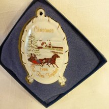 "Wedgwood Vintage 1996 ""Our First Together"" White Jasper Christmas Ornament - $25.69"