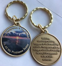 Acceptance Is The Answer Beach Sunrise Color Bronze Keychain AA Page 449 417 - $12.86