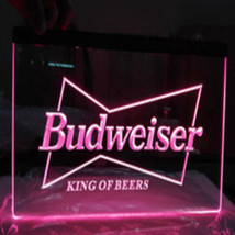 Budweiser Neon Light Sign Man Cave Pub Bar Beer free shipping  - $29.99