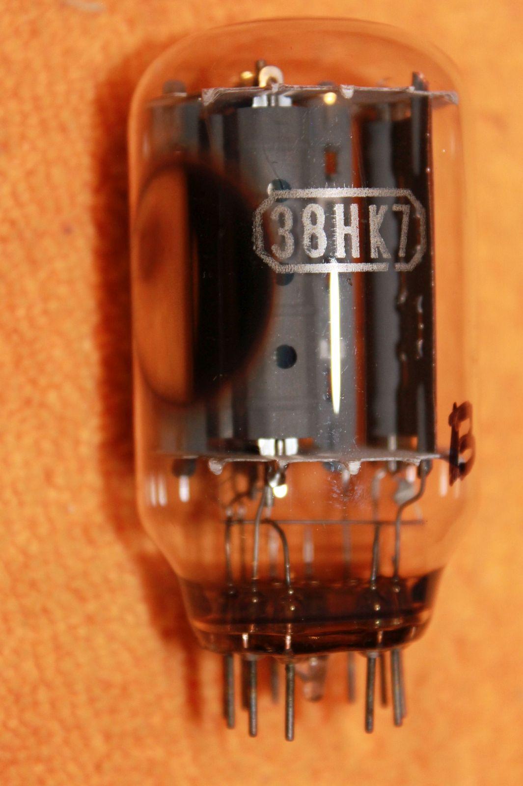 Vintage Radio Vacuum Tube (one): 38HK7 - Tested Good