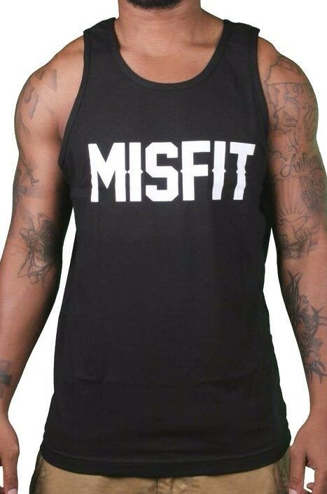 SSUR Russ Kalabrin New York Hombre Negro Misfit Tanque Top Camiseta Músculos Nwt