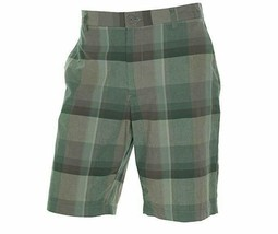 Alfani Men's Shorts Sz 38 Lavender Grey Plaid Cotton Casual Flat Front  - $24.18