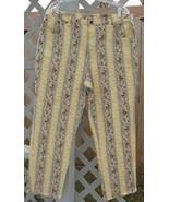 20 W Denim & Co Stretch Denim Floral Printed Pants - $9.99