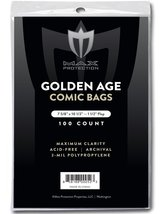 (200) Max Pro GOLDEN Age Comic Book BAGS - Ultra Clear Protection - (Qty... - $16.99