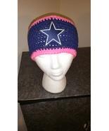 Dallas Cowboys Pink Awareness Handmade Crochet ... - $18.00