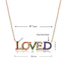 Fashion Alloy LOVE Letter Pearl Crystal Long Chain Necklace Women Jewelry Gift image 4
