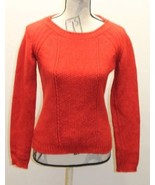 Hugo Boss Red Cable Women Cable Knit Sweater Made In Italy Small Wool Co... - $38.48