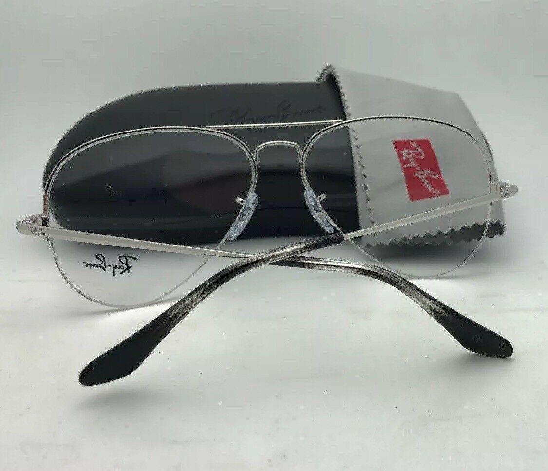 1f1b3c3920361 New RAY-BAN Eyeglasses RB 6589 2501 56-15 140 Aviator Semi Rimless Silver  Frames