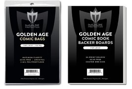 50 EACH Max GOLDEN age COMIC BOOK BAGS AND BOARDS PREASSEMBLED - FAST SHIP - $14.99