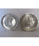 "Wendell August Forge 4 1/4"" Plates - Adorable Christmas Designs - €13,43 EUR"