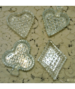 Vintage INDIANA GLASS Card Suite Nut/Candy Dishes // Glass Barware - $6.50