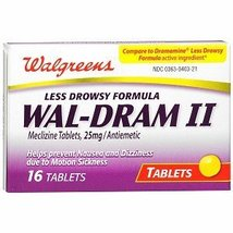 Walgreens Wal-Dram II Antiemetic Travel Sicknes... - $24.69