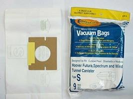 9 Allergen Bags TYPE S Replacement 4010100S for Hoover Futura, Spectrum,... - $11.88