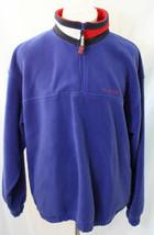 Vtg 90's Tommy Hilfiger 1/4 Zip Fleece Jacket Men's Sz XL Red White Blue... - $42.13