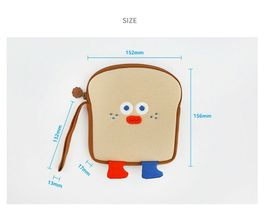 Brunch Brother Run Toast Bag Pouch Pencil Case Handbag Organizer (Toast) image 4
