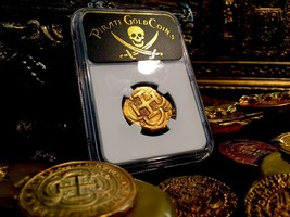 "Spain 1630 Treasure Coin ""Pirate Era Cross"" Gold 4 Escudos Doubloon Cob Ngc 40 - $2,950.00"