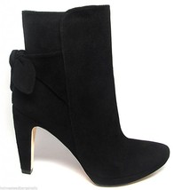 Size 9.5 Joan & David Bernisa Black Suede High Heel Ankle Boot Bow NEW - £66.06 GBP