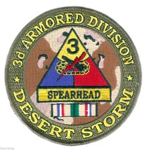 """ARMY 3RD ARMORED  DIVISION DESERT STORM  RIBBON  4"""" EMBROIDERED MILITARY... - $18.04"""