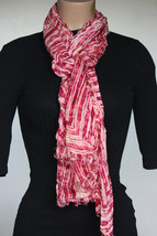 NEW Calvin Klein Multi Pink Women's Neck Scarf size 30x72 - $14.84