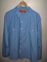 Textilease Garage Shirt - USA Made Blue Mens Mechanic Uniform WorkShirt ... - $22.76