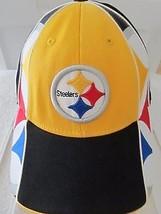 Pittsburgh Steelers Hat Cap Black Yellow Flex Fit Reebok NFL Equipment! ... - $21.24