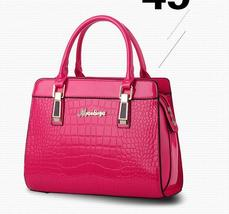 9 Color Women Leather Handbags Crocodile Pattern Women Shoulder Bags,Tot... - $38.99