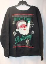 New Hanes Womens Plus Size 2X Xxl Don't Stop Believing Christmas Xmas Sweatshirt - £10.54 GBP