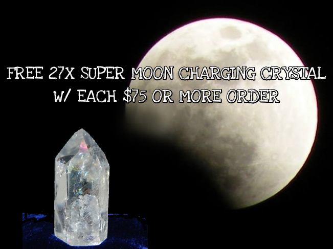 Primary image for Haunted FREE W $75 27X SUPER MOON CHARGING CRYSTAL!! EMPOWER MAGICK! Cassia4