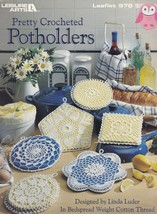 Pretty Crocheted Potholders, Leisure Arts Pattern Booklet 978 Lacy Pot H... - $5.95