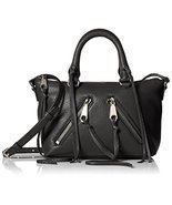 Fashion Rebecca Minkoff Micro Moto Satchel Black h6.25 w8.5 w89 HC35EMOX... - ₨15,356.03 INR