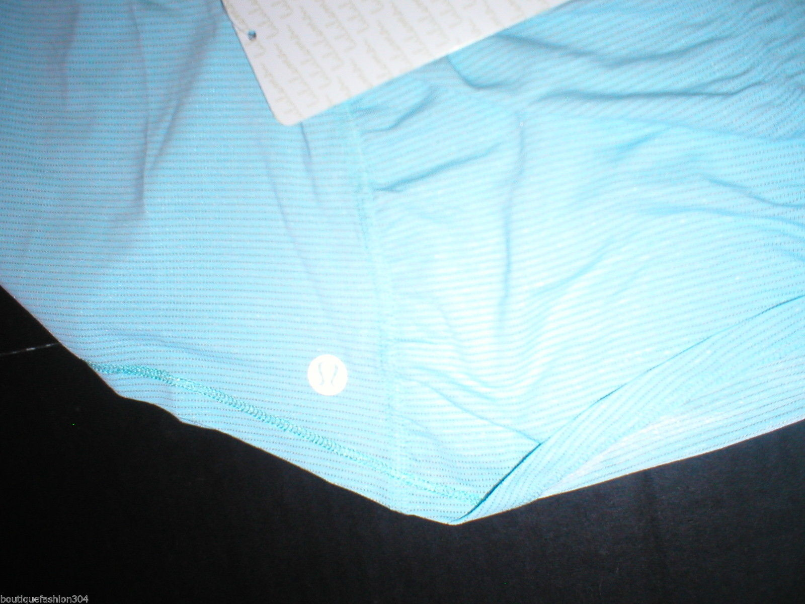NWT Womens Lululemon New 12 Aqua Blue Tank Top Runner Up Tank Ruched Back Yoga