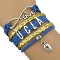 University California Los Angeles UCLA Bruins Fan Shop Infinity Bracelet Jewelry