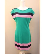 Lilly Pulitzer Kinley Sweater Dress Green Navy Pink Size Medium M NWT RP... - $74.22