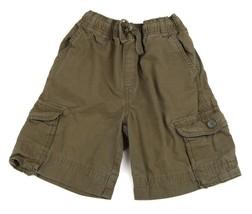 GYMBOREE Boys Shorts Cargo Pockets Army Green Cotton Tie 10 - $7.91