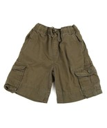GYMBOREE Boys Shorts Cargo Pockets Army Green Cotton Tie 10 - $7.91