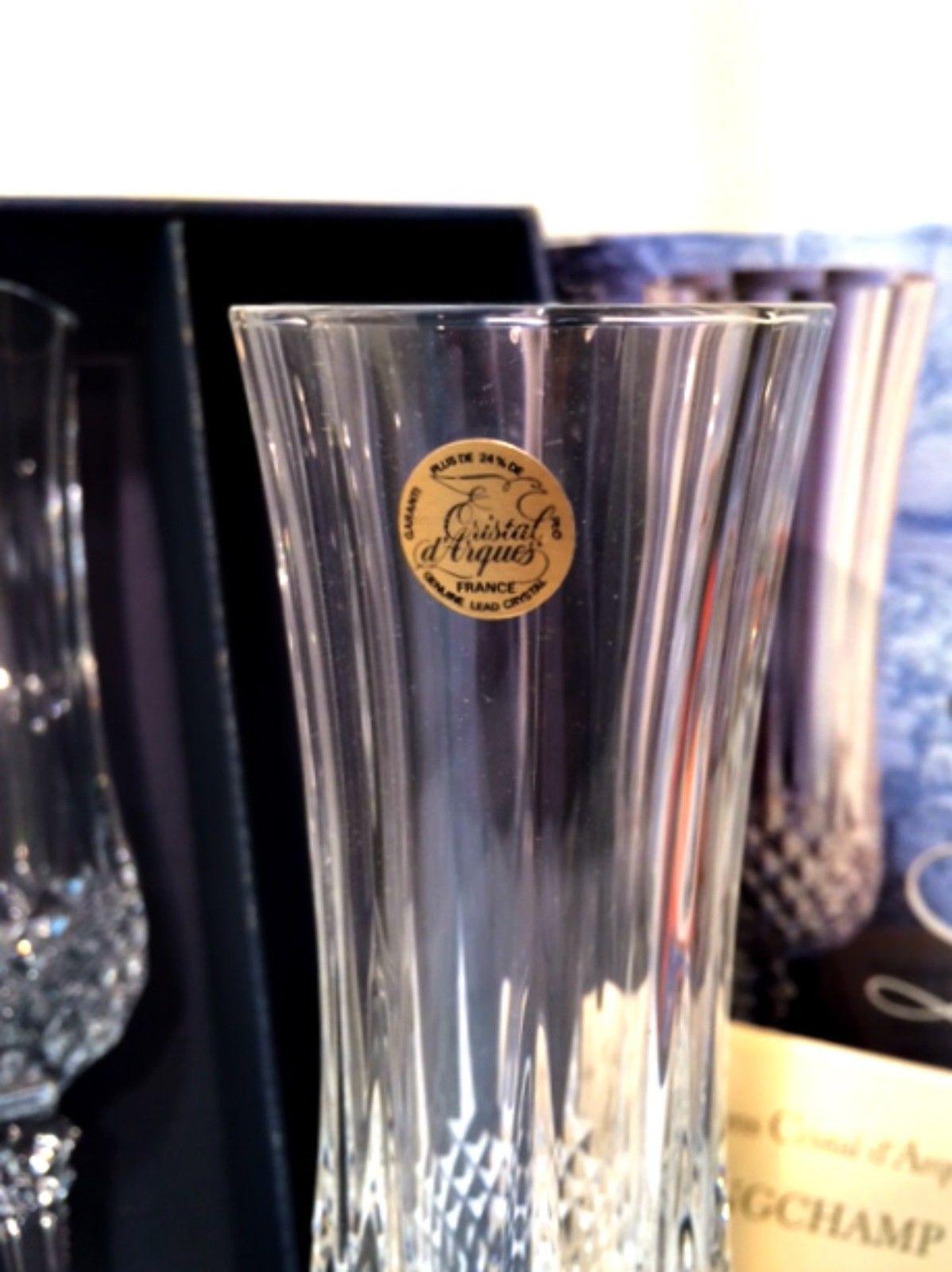 longchamp wine champagne flutes 4 cristal and 12 similar items. Black Bedroom Furniture Sets. Home Design Ideas